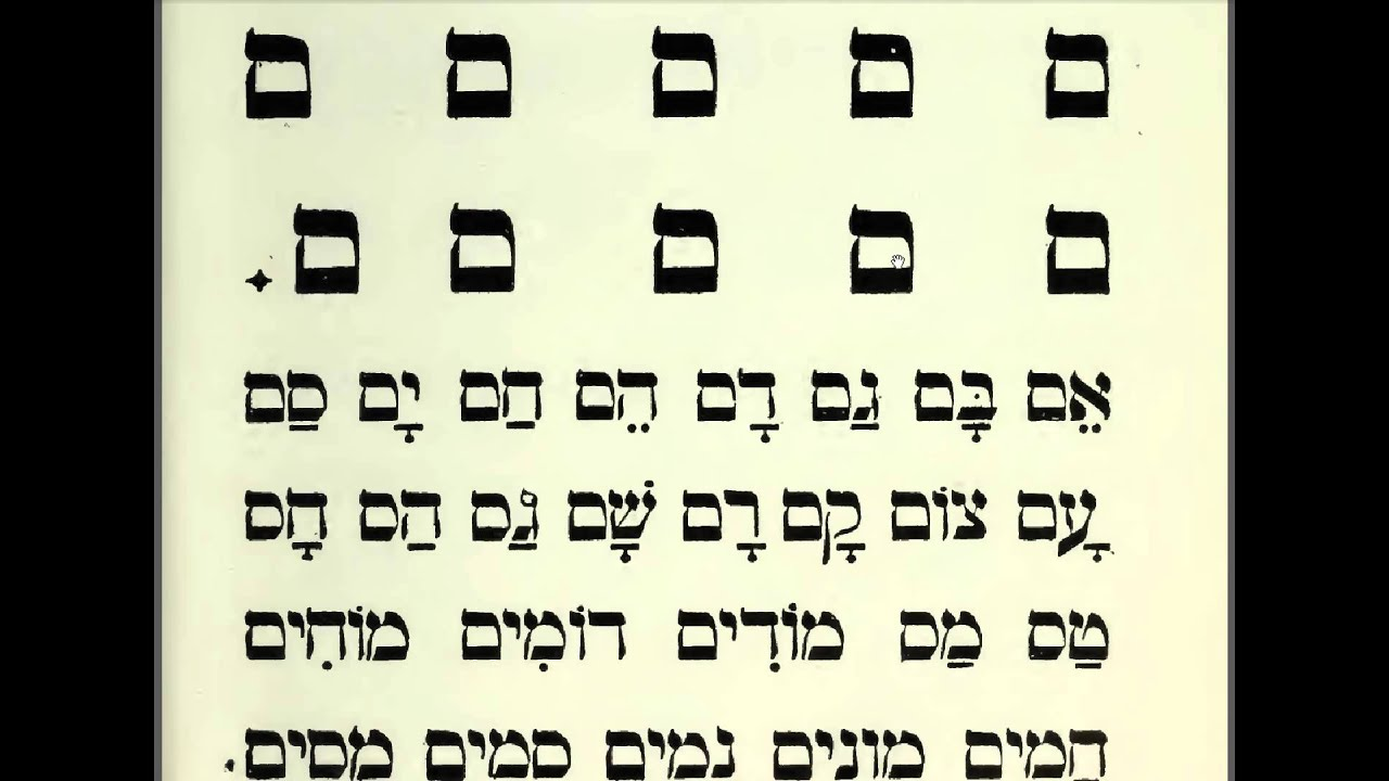 34 Learn Hebrew Alphabet Reading Lessons For Beginners
