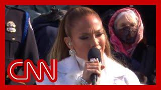 Jennifer Lopez performs at Biden's inauguration