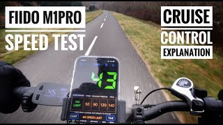 Fiido M1 Pro speed test and CRUISE CONTROL