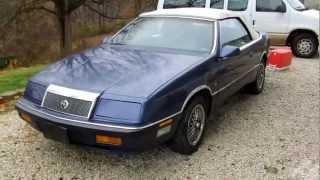 1990 Chrysler LeBaron V6 Convertible   Full Tour & Start Up
