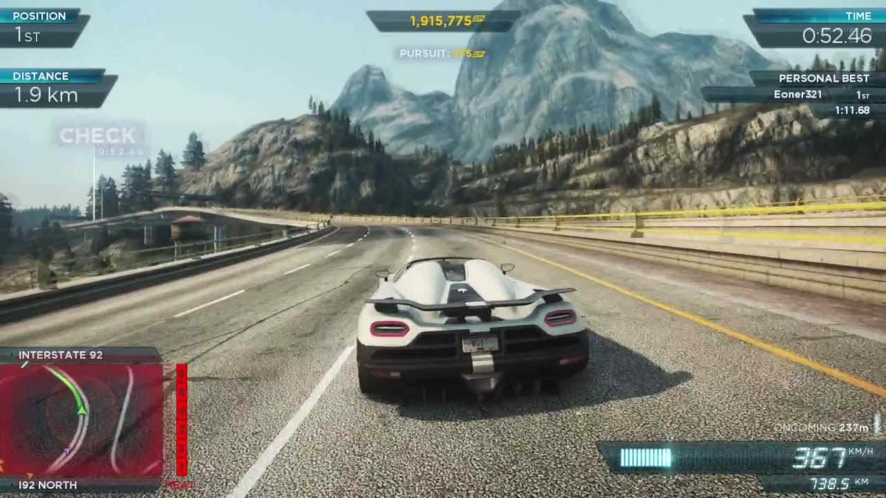 Nfs Most Wanted 2012 Koenigsegg Agera R 2 1080p Youtube
