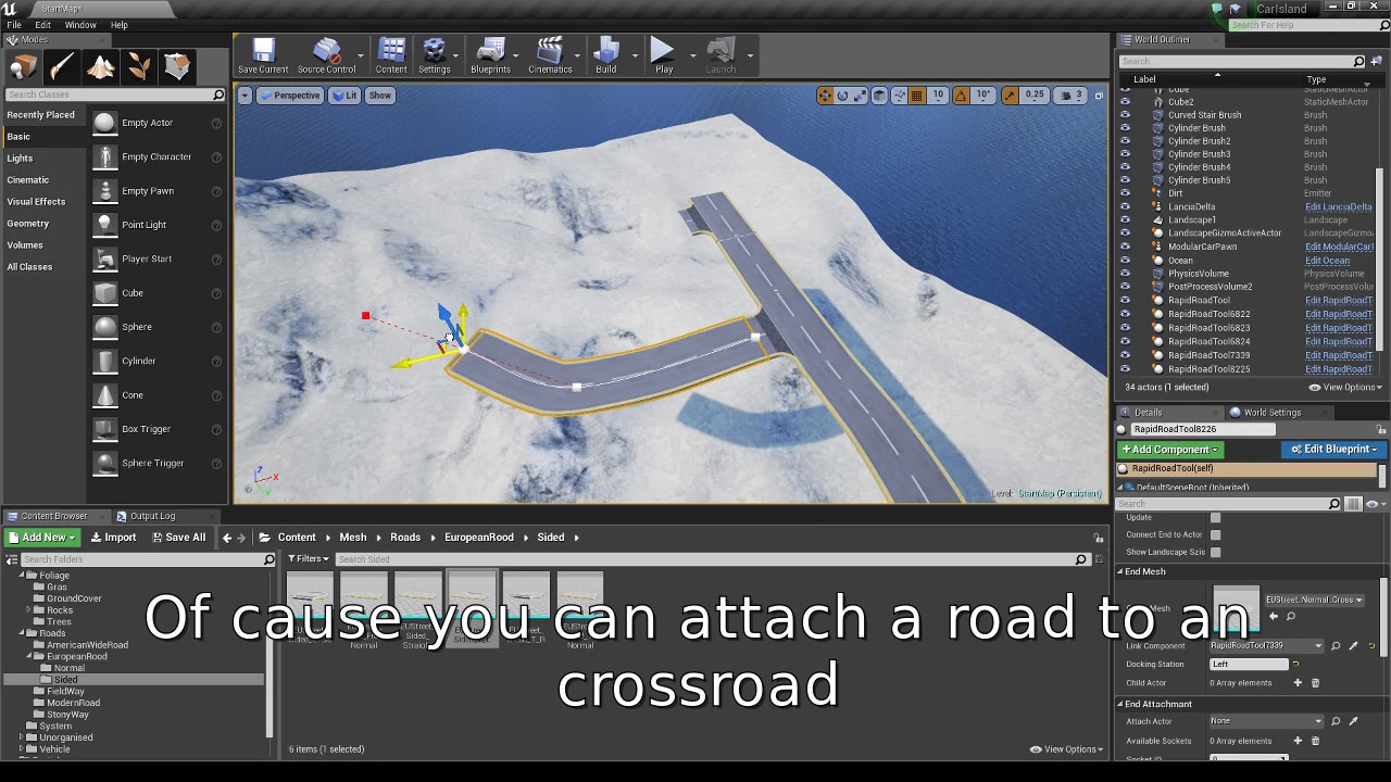 Free] Simple Road Tool - Unreal Engine Forums