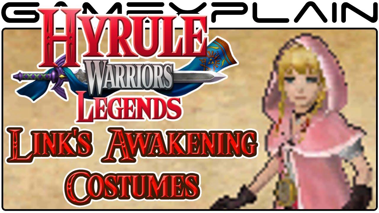 Hyrule Warriors Legends All Link S Awakening Adventure Mode Dlc Costumes 3ds Youtube