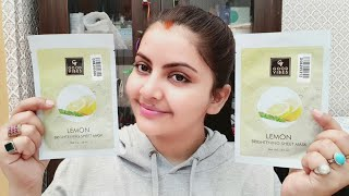 Good vibes lemon brightening sheet mask review & demo | skin brightening skincare | RARA