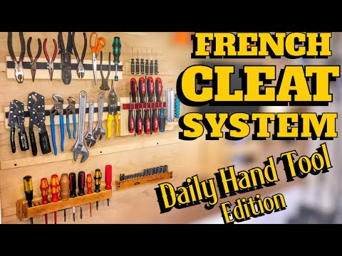 French Cleat System | Simple Hand Tool Edition | DIY Woodworking Project | How To Make