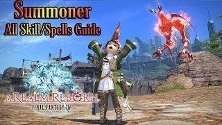 Final Fantasy XIV ARR - Summoner ALL skill spells guide