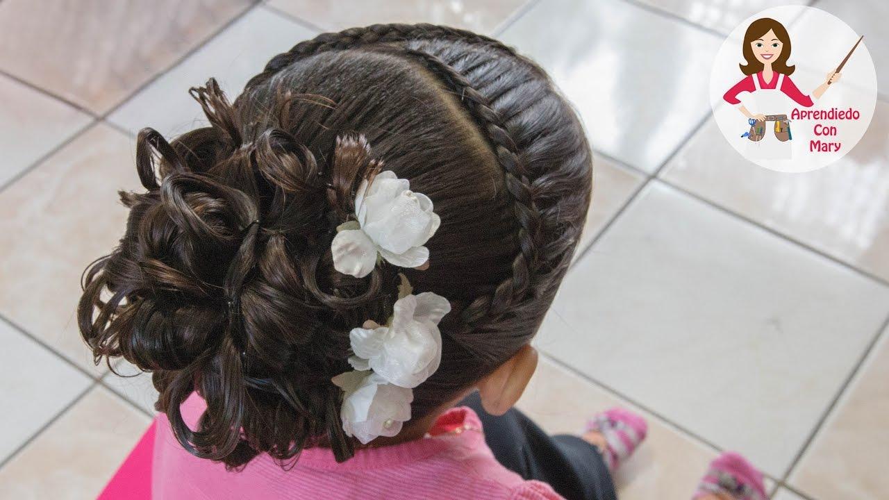 Peinado elegante para ni a facil youtube - Peinados de ninas ...