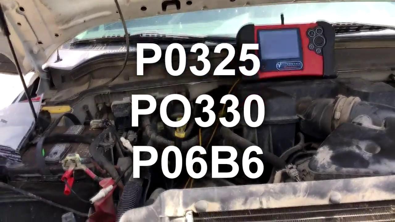 knock sensor problem p0325 p0330 p06b6