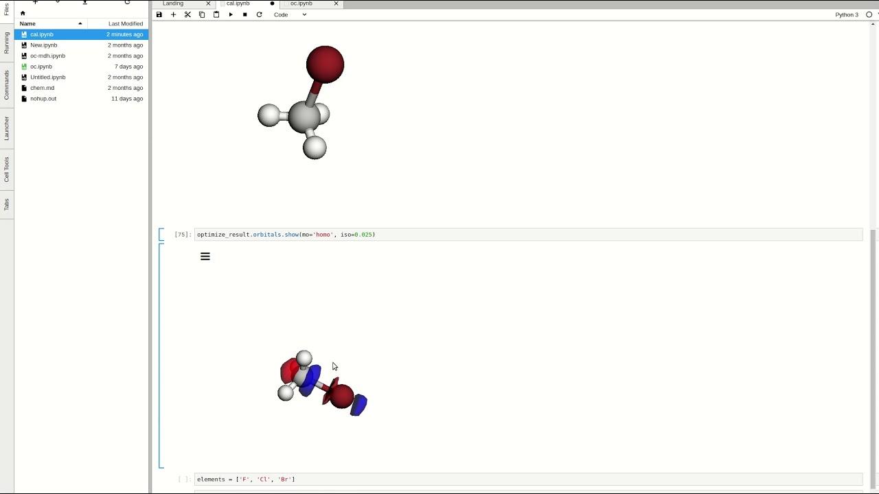 Open Chemistry in JupyterLab - Kitware Blog