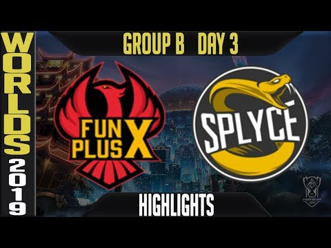 FPX vs SPY Highlights Game 1 | Worlds 2019 Group B Day 3 | FunPlus Phoenix vs Splyce