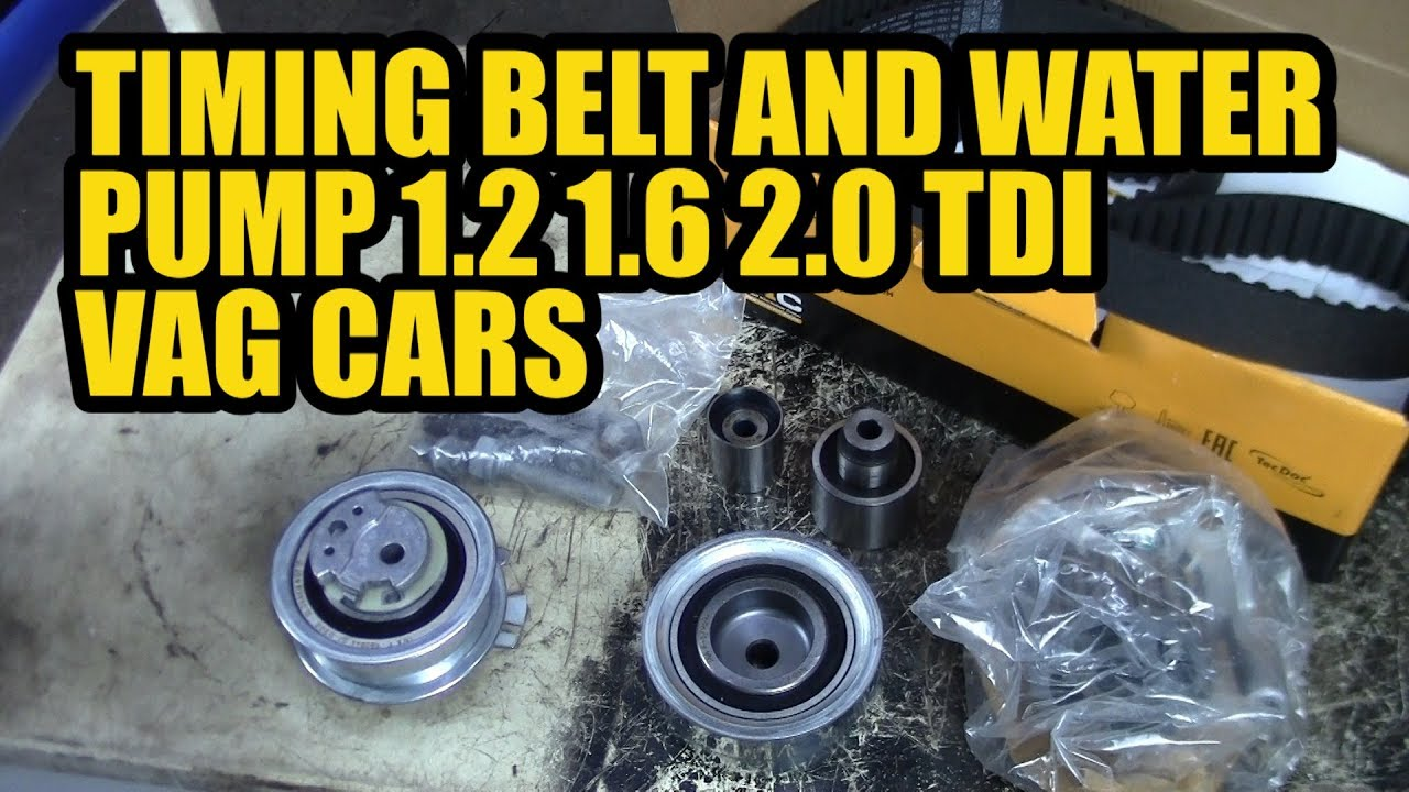 How To Replace A Timing Belt And Water Pump 1 2 1 6 2 0 Tdi Vag Vw