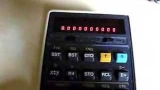 HP 25C calculator in action!