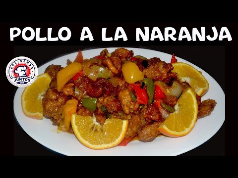 Pollo a la naranja -  Comida China. Orange Chicken