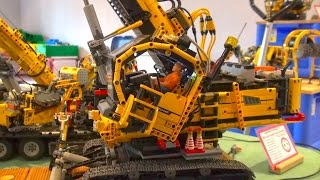 Amazing RC LEGO TECHNIC Extrem! Big Construction-Site in Lego-Scale!