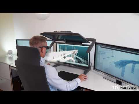 3D PluraView - Passiver 3D-Stereo Monitor für GEO-Anwendungen