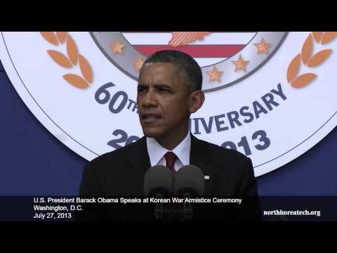 US President Obama speaks at Korean War Armistice anniversary event