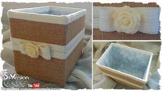Tutorial: Contenitore Shabby Chic | Riciclo Creativo | DIY Shabby Chic Storage Box