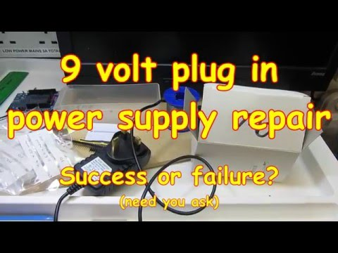 #35 Power Supply (9v) Repair - woah! Mains Voltage!