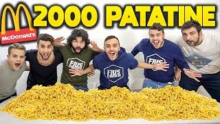 🍟2,000 McPATATINE!!! [13.200 Kcal] French Fries Challenge