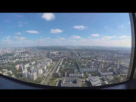 Xiaomi yi 4k Timelapse - Останкинская башня из ресторана \