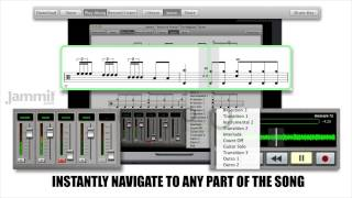 Jammit App: Isolate or remove an instrument from the original master recording while viewing the most accurate notation available @ www.jammit.com ALL ...