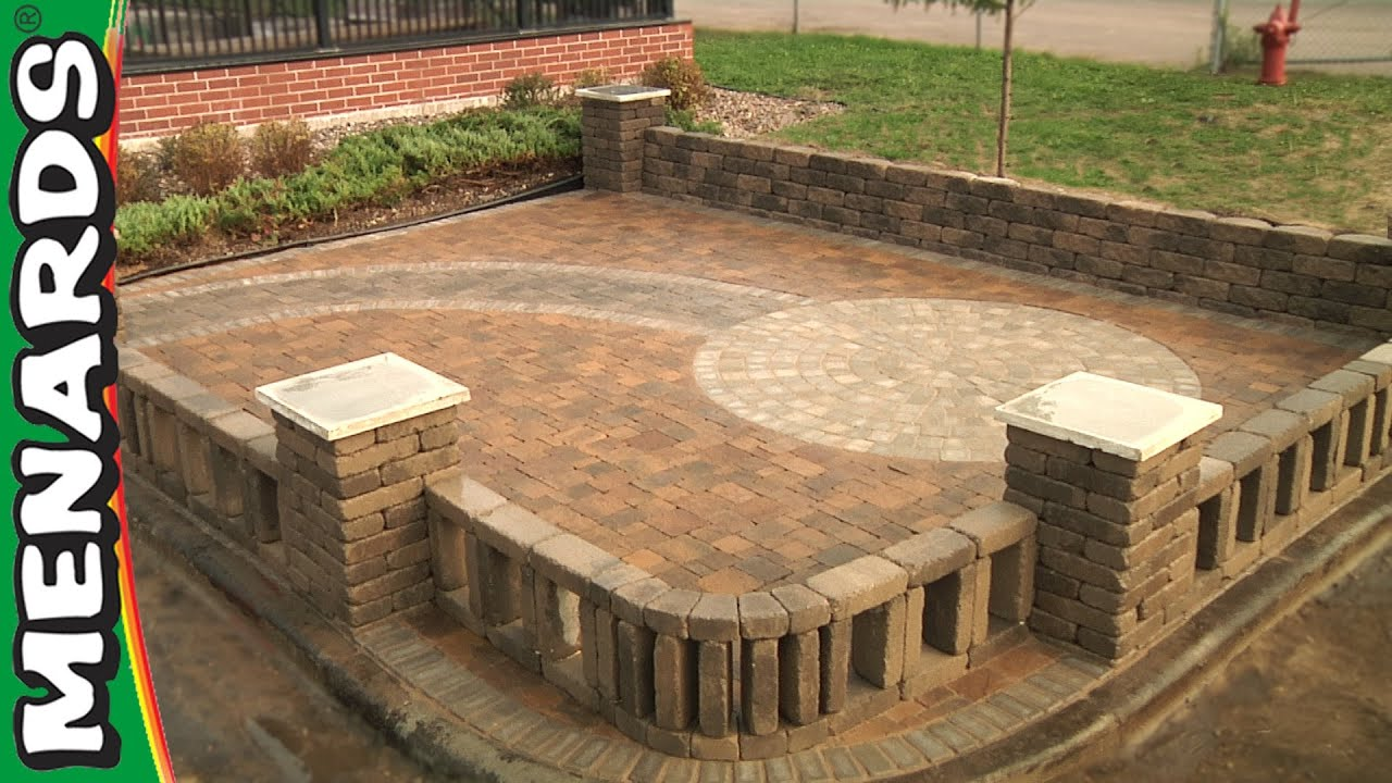 Block Patio How To Menards YouTube - Block patio designs