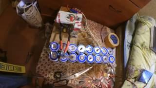 Cварочный аппарат для точечной сварки аккумуляторов. Simple spot welding device for batteries(Собрал простой сварочный аппарат точечной сварки для сборки аккумуляторных батарей. Использовал трансфор..., 2016-08-16T14:31:54.000Z)