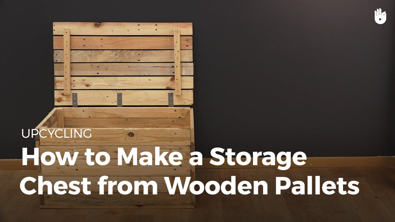 Make a Storage Trunk from Wooden Pallets | Upcycling - YouTube