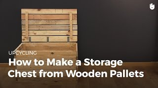 Learn how to upcycle a pallet with this simple DIY Project Upcycling is fun and ecological. Give it a go! Find more great upcycling ...