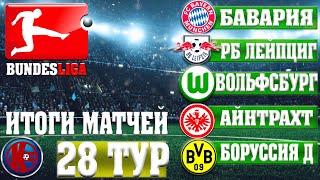 Футбол ГЕРМАНИЯ БУНДЕСЛИГА 28 ТУР РЕЗУЛЬТАТЫ ТАБЛИЦА РАСПИСАНИЕ 2020 2021
