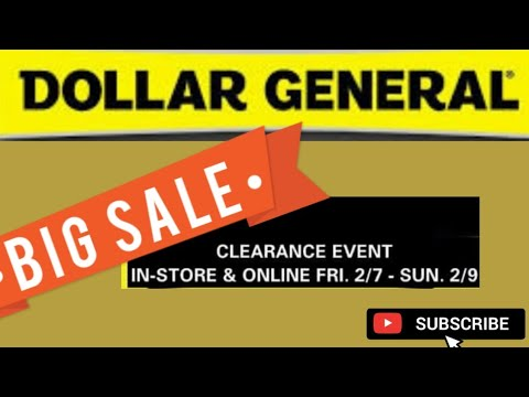 🗣DG ORANGE & YELLOW TAG CLEARANCE EVENT