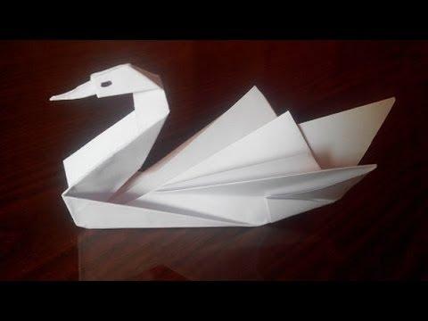 Как сделать оригами лебедя, origami swan