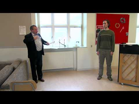 David Lowe teaches tenor, 23-year-old Karsten (Masterclass 2009 at Den Jyske Sangskole)