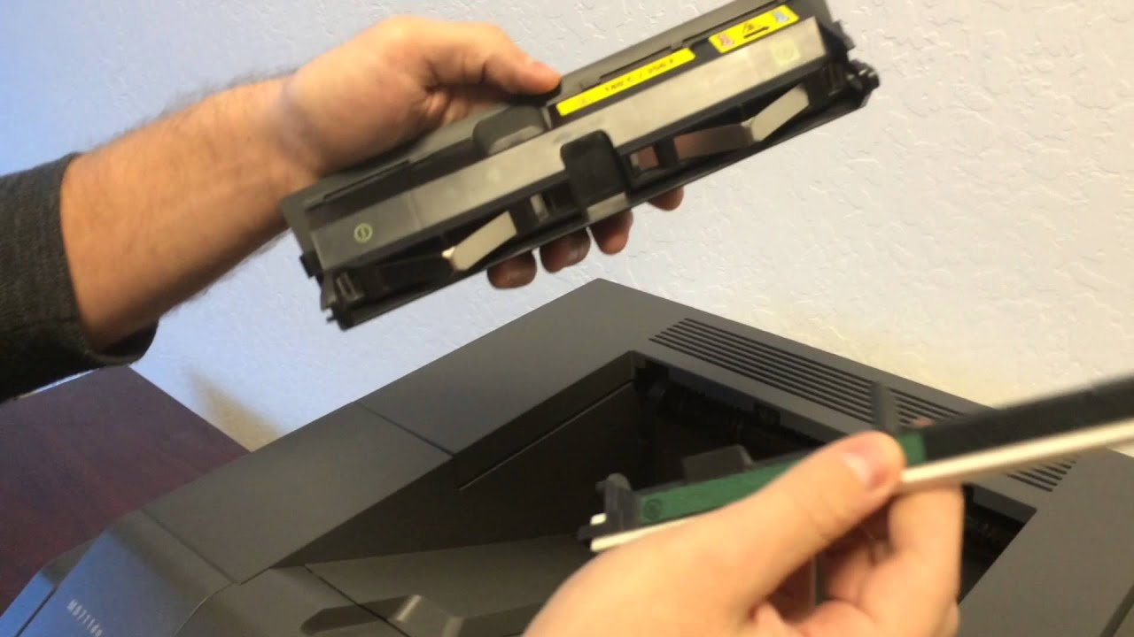 how to replace the fuser wand in a lexmark ms710 or ms711