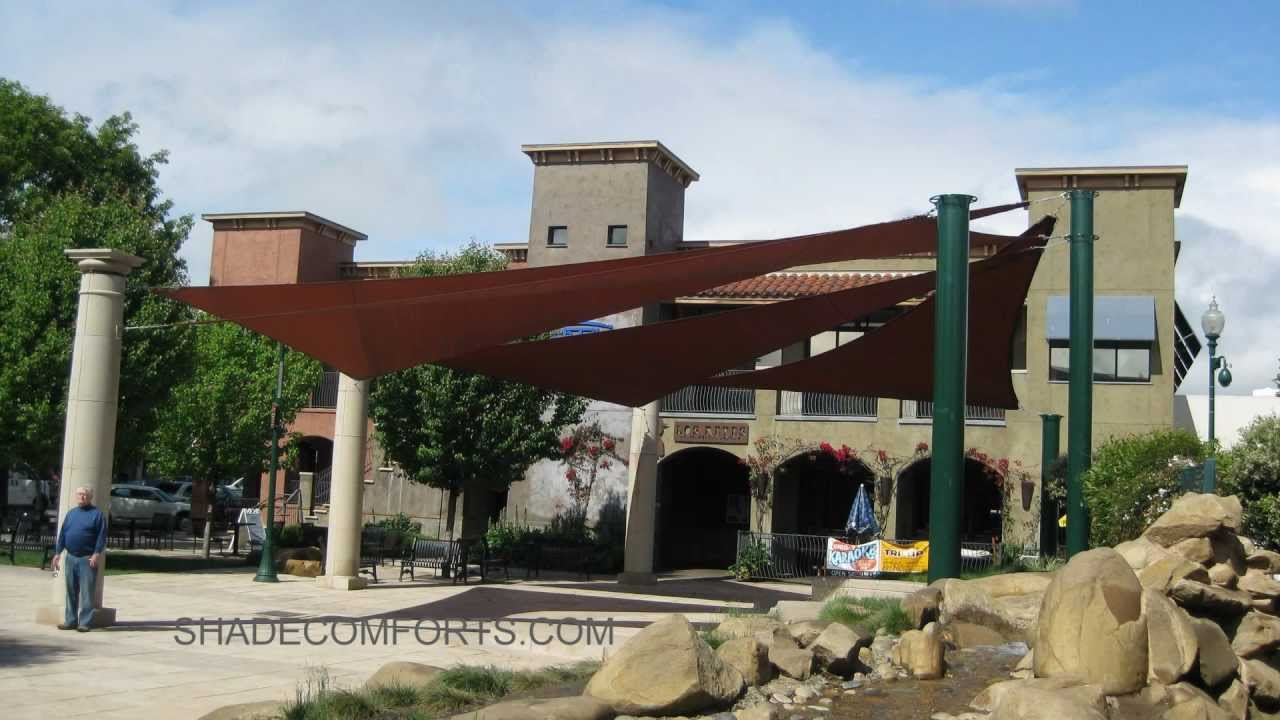 Fabric Shade Sail Canopy Structures| Commercial California   YouTube