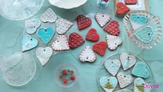 сахарная глазурь для  имбирного новогоднего печенья (2)рецепт