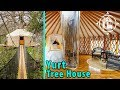 Romantic Yurt Tree House with Waterfall