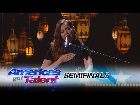 Mandy Harvey: Deaf Singer Moves Crowds With Original Song - America's Got Talent 2017