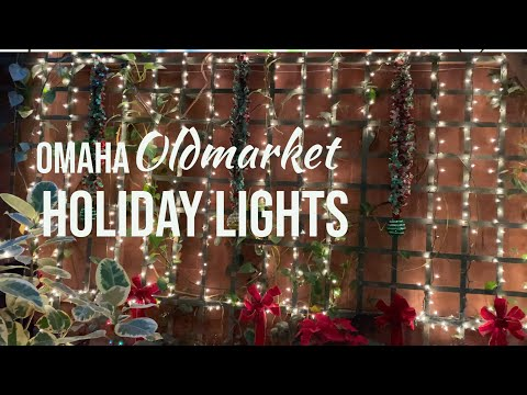 Omaha Oldmarket Holiday Lights | Omaha Downtown