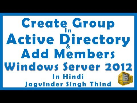 how to create a group in active directory