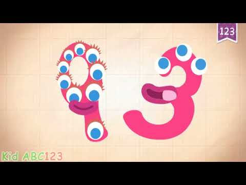 Endless Numbers counting 90 to 100   Learn 123 Numbers for Kids