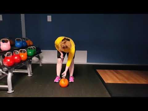 Skeleton sport. Fun after basic training. 28 kg. Lidiia Hunko (Ukraine)