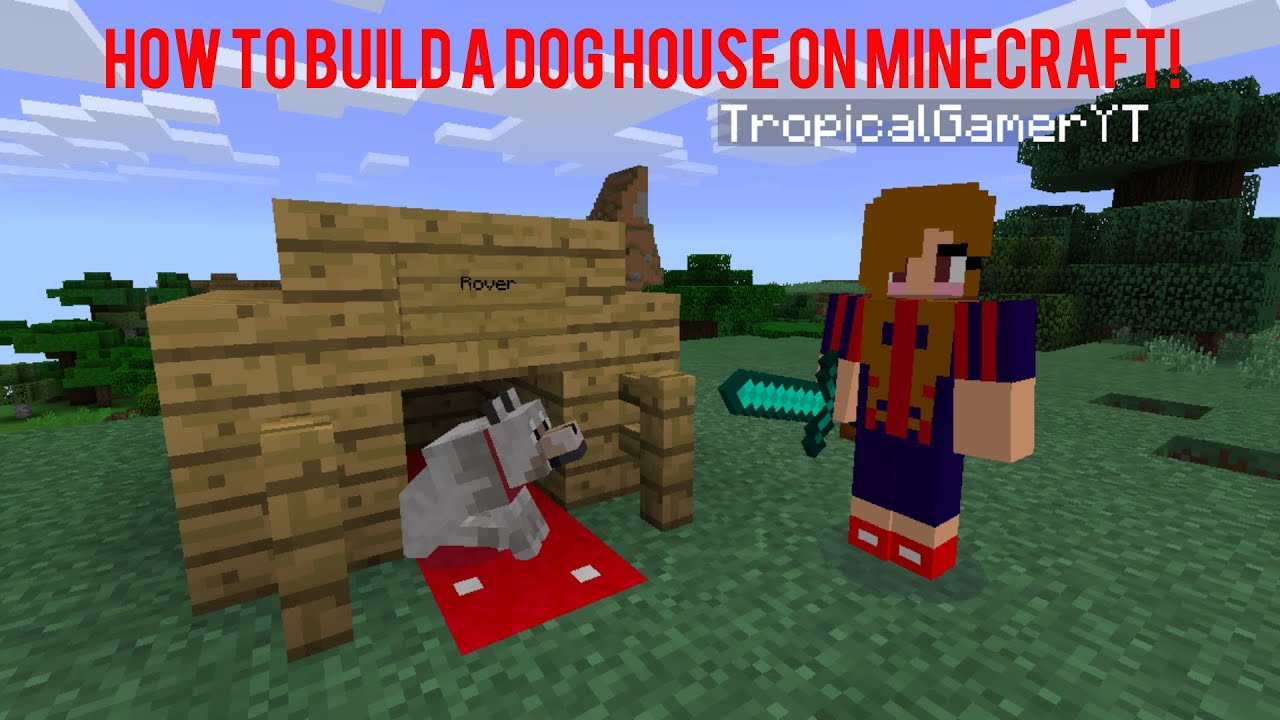 How To Make A Dog House On MineCraft Xbox 360 Edition! HD YouTube