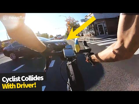 who-was-right?-cyclist-collides-with-driver,-both-say-they-had-a-green-light