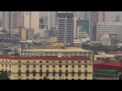 View of Manila Hotel, Rizal Park, City Hall, Post Office, Intramuros - Jan 7, 2010 12:00PM