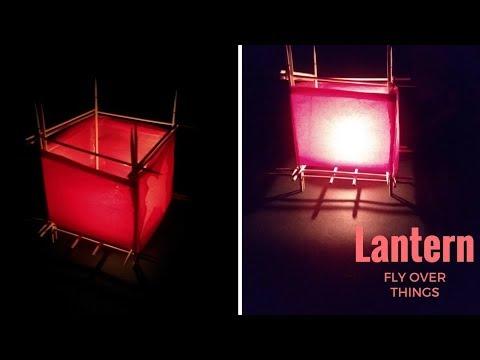 How to make a Paper Lantern with bamboo sticks| DIY Lantern
