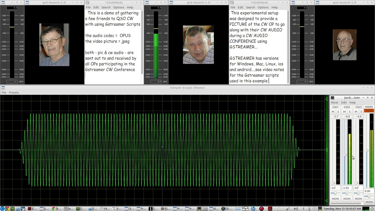 QSO QRQ CW with a friend(s) using Gstreamer - send along a