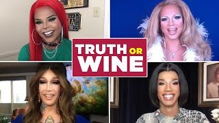 "The Queens Of ""RuPaul's Drag Race: Vegas Revue"" Play Truth Or Wine"