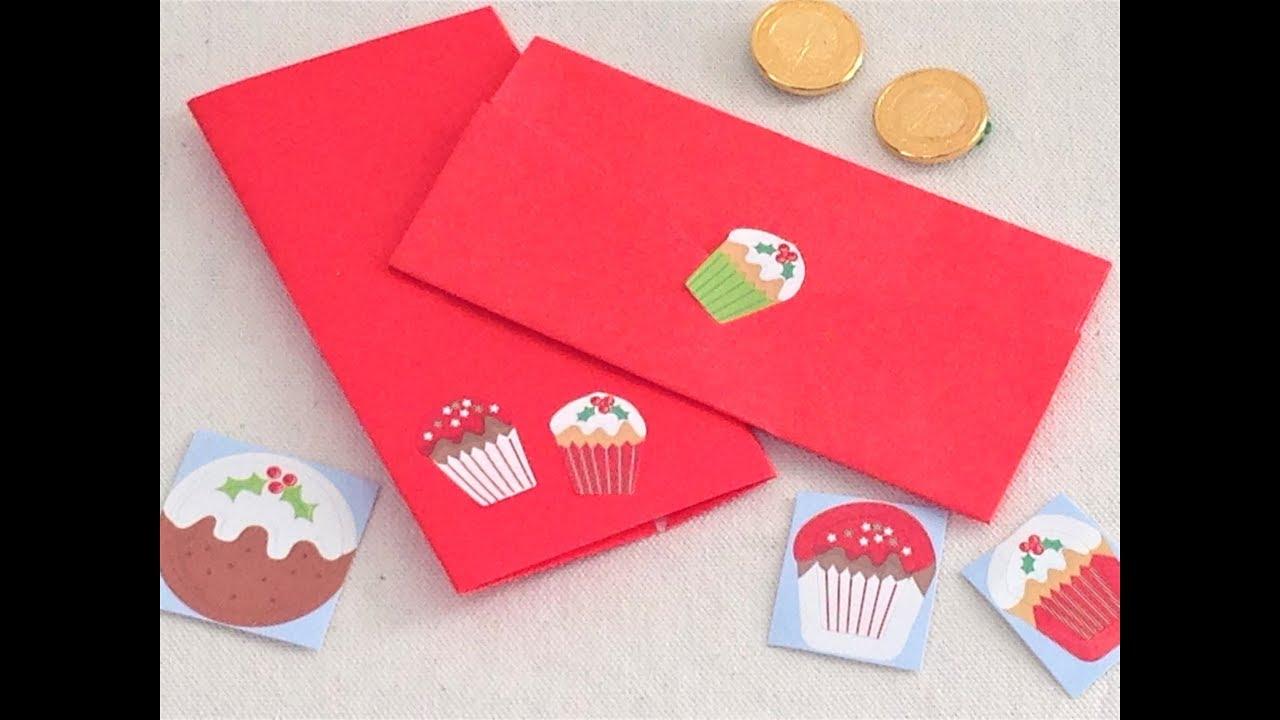 クリスマス手作りぽち袋の作り方 折り紙の簡単かわいいハンドメイド