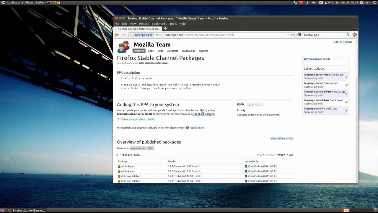 How To Update Firefox on Ubuntu (10 10)
